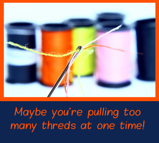 Doing too much - Time Management PLR Image