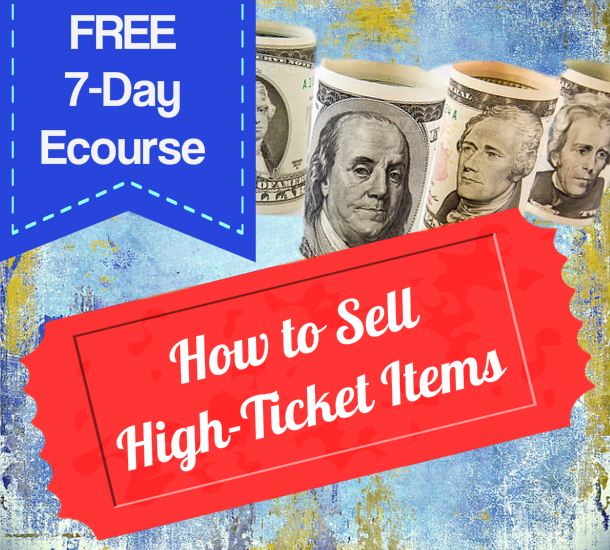How to Sell High Ticket Items – PLR Marketing Report & 7 Day Ecourse – Coupon Code