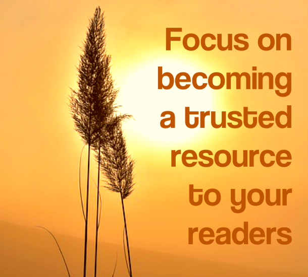 PLR blog posts - focus on becoming trustred resource IMAGE