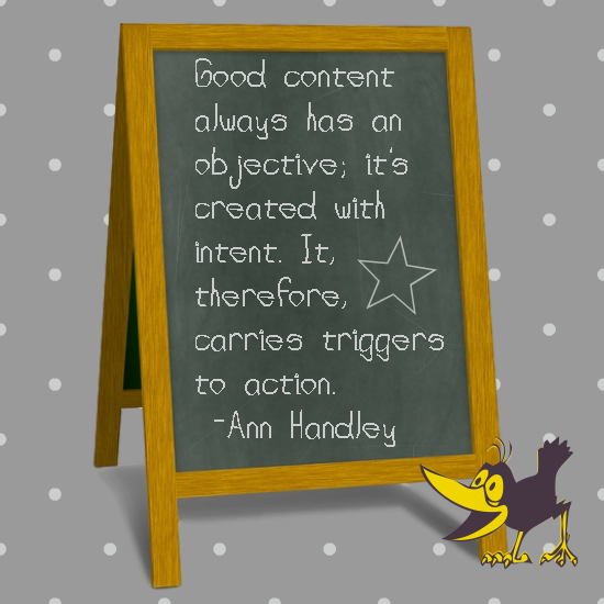 Biz Marketing PLR - Good Content Quote Image