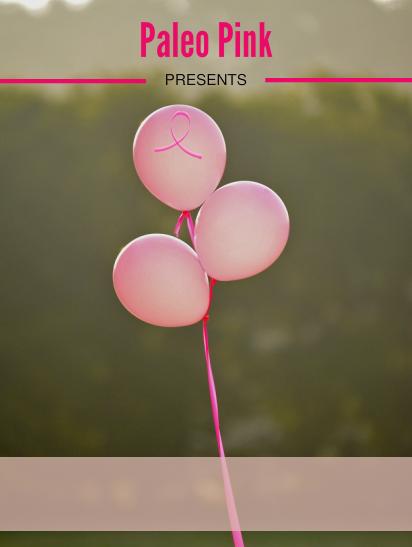 brest cancer PLR - paleo pink ecover -blank