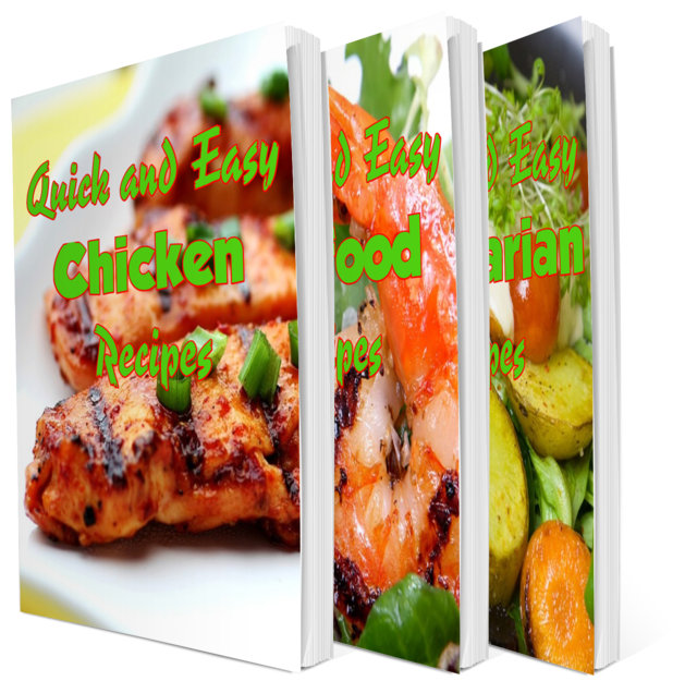 3 New PLR Recipe Cookbooks With Step By Step Photography