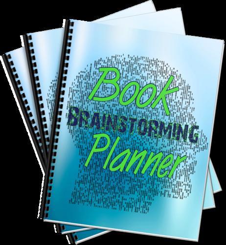 publishing PLR planner: book brainstorming planner ecover